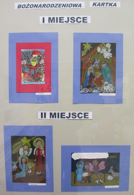 """Konkurs plastyczny """"Bożonarodzeniowa kartka"""""""