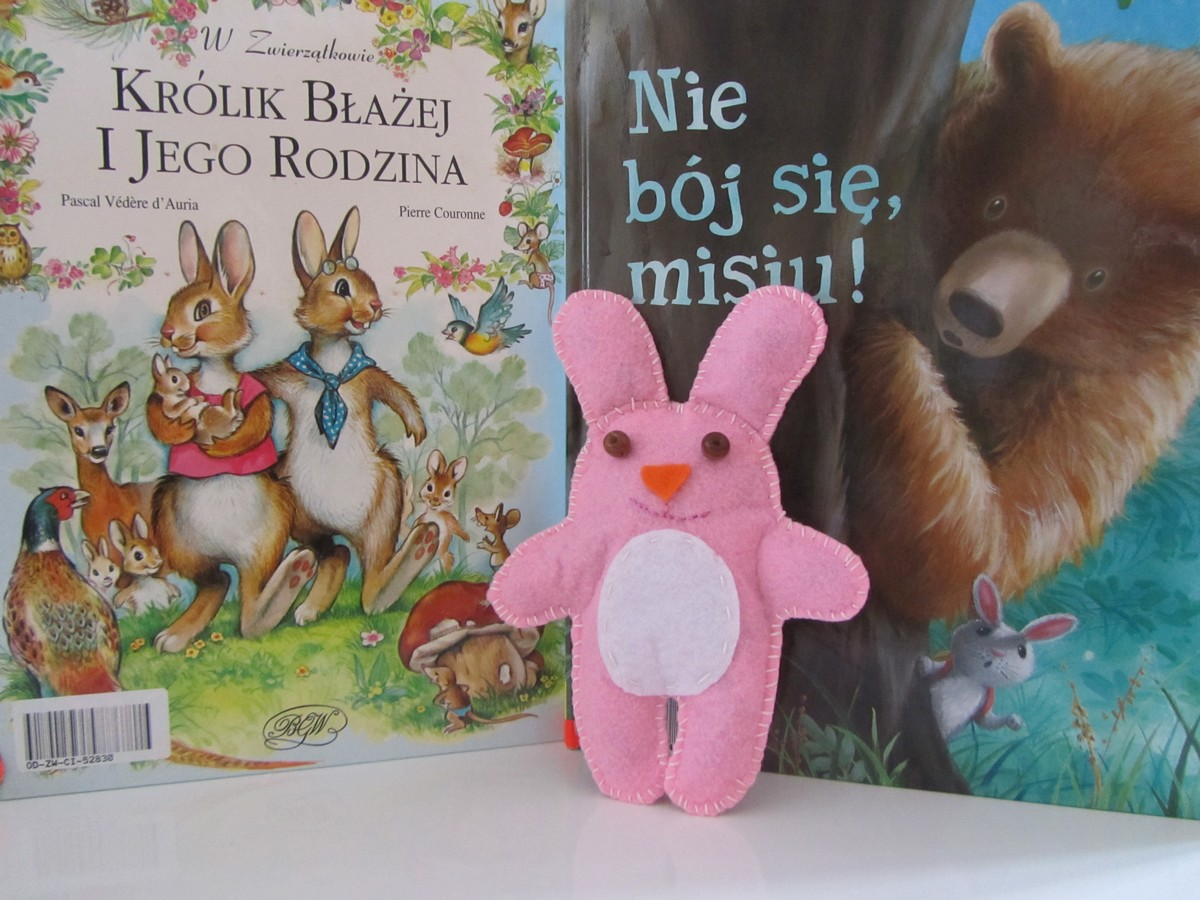 Filcowy królik Karol : )