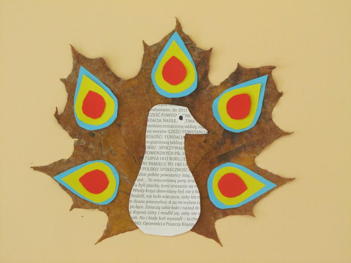 """""""Coś z niczego"""" – zwierzęta i stworki z jesiennych liści"""